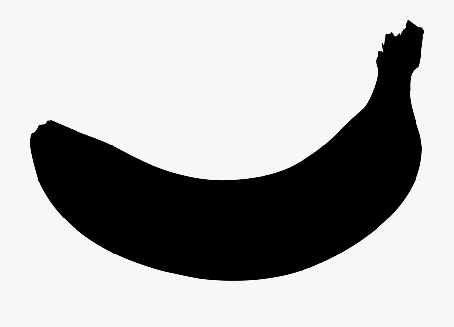 Banana clipart silhouette. Png black free