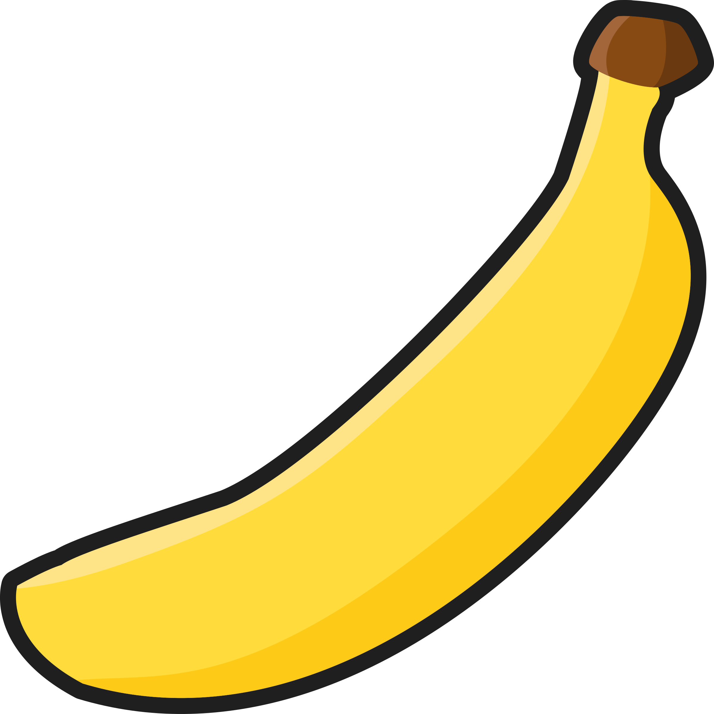 Banana outlined big image. Clipart pencil simple