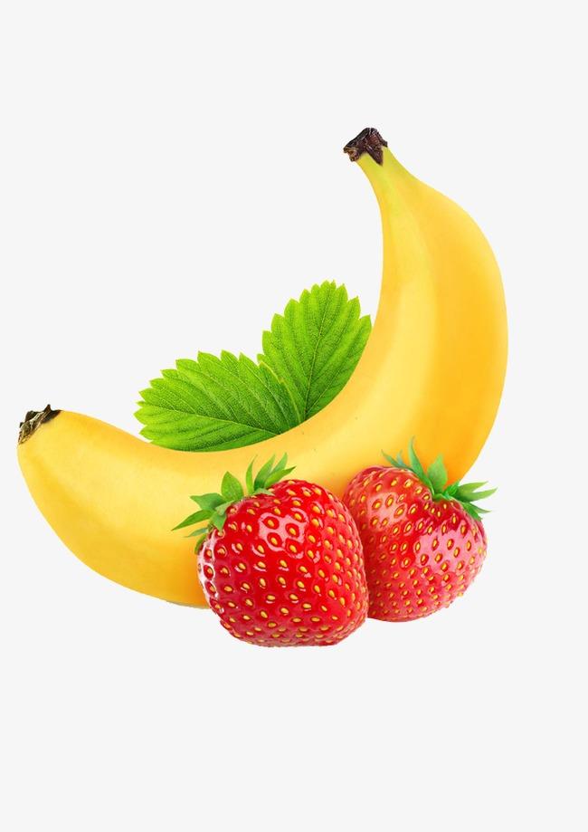 Banana clipart strawberry banana. Fruit png image and