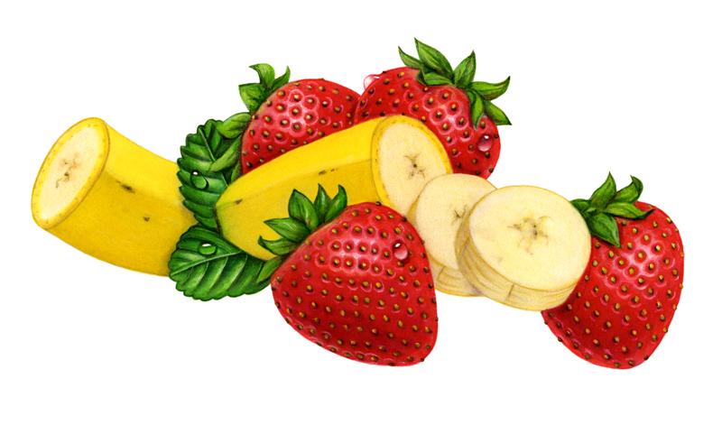 illustrating yogurt made. Banana clipart strawberry banana