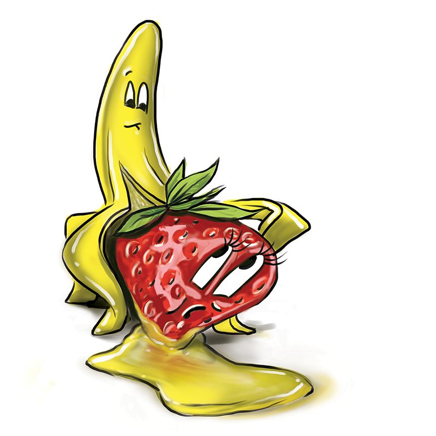 Quick logo for shatter. Banana clipart strawberry banana