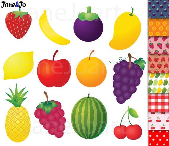 Fruit clip art pineapple. Nutrition clipart orange banana