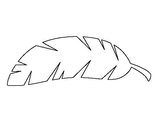 Printable leaves leaf templates. Banana clipart template
