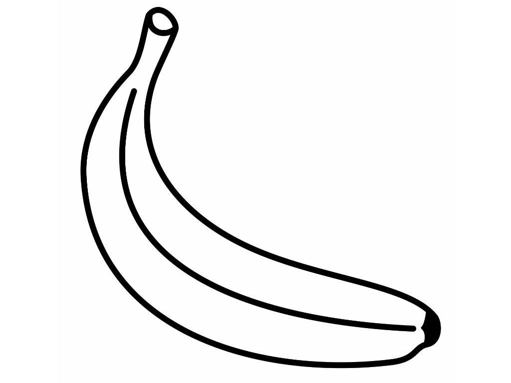 Banana clipart template. Photos outline printable drawings