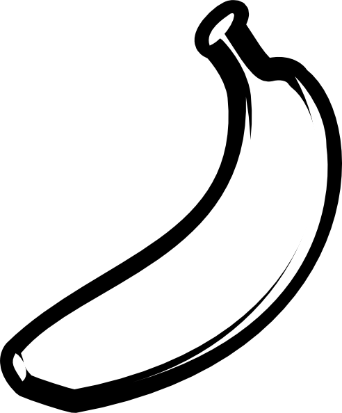 Banana clipart template.  images of clip