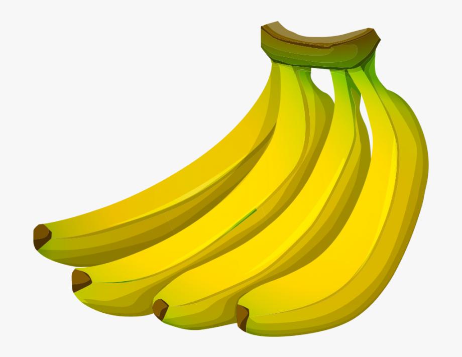 . Clipart banana transparent background