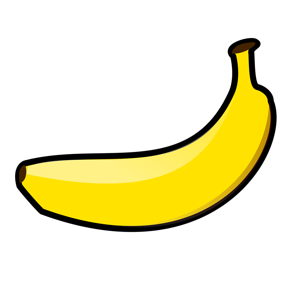 Pencil and in color. Banana clipart transparent background