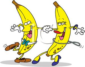 Banana clipart two. Picture dancing bananas