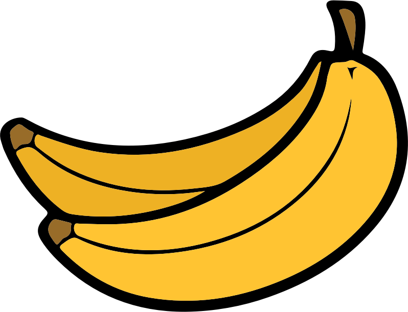Pear clipart two. Banana medium image png