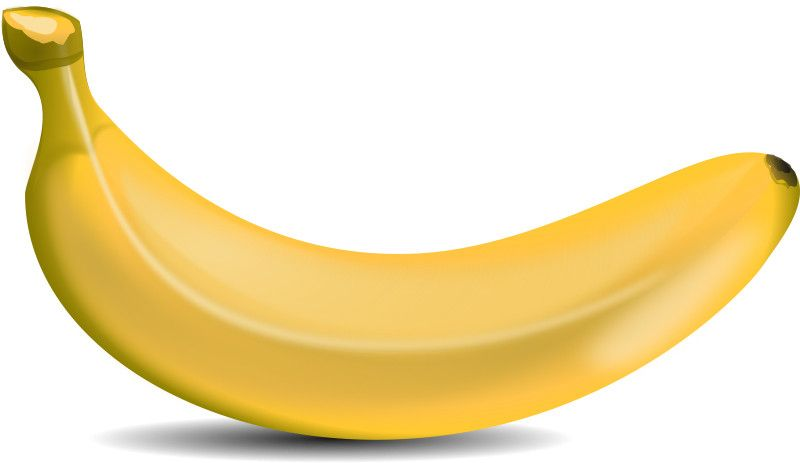 Free cartoon food cooking. Banana clipart vector