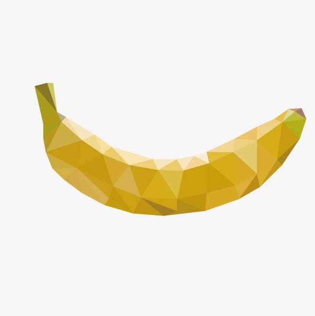 Polygon yellow diagram png. Banana clipart vector