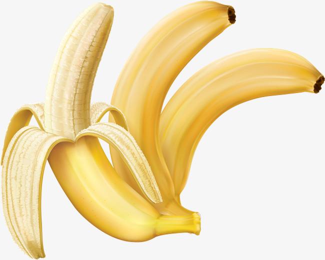 Three patterns cartoon d. Banana clipart vector