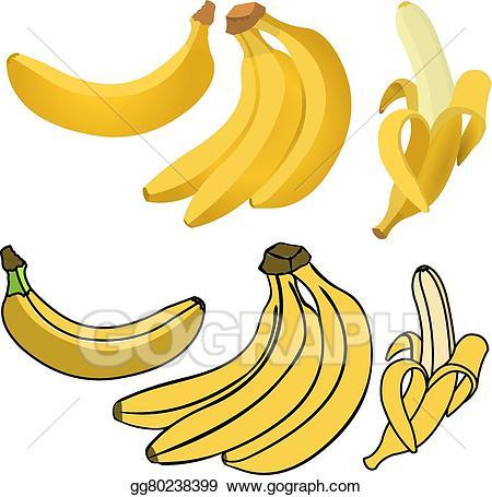 Art eps drawing gg. Banana clipart vector