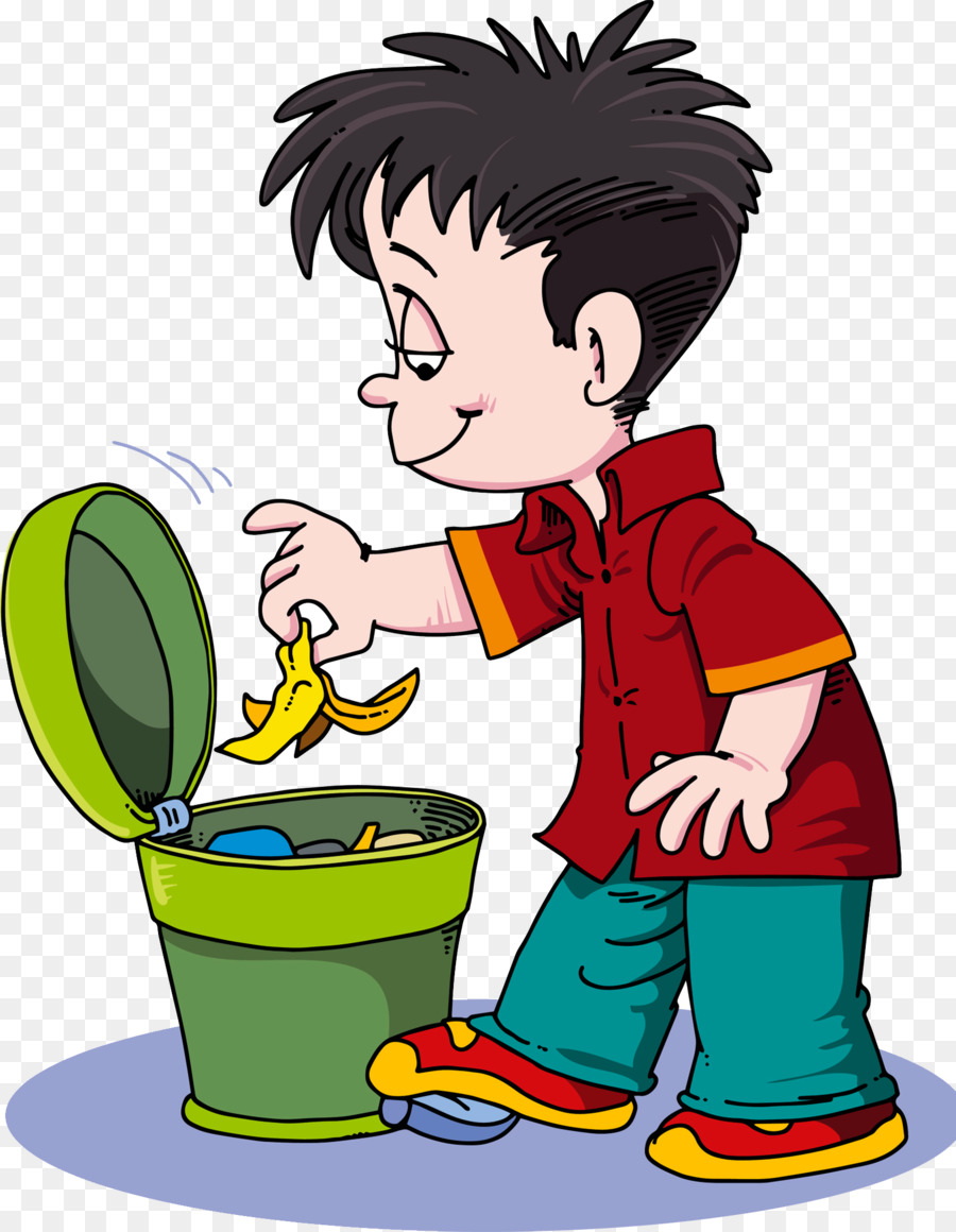 Container clip art rubbish. Banana clipart waste