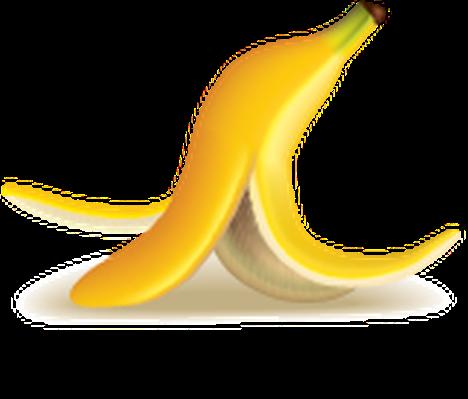 Garbage icons detailed banana. Bananas clipart icon