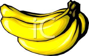 Banana clipart yellow banana. A bunch of bananas