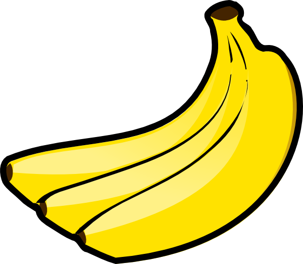 Bananas clip art at. Clipart fruit silhouette