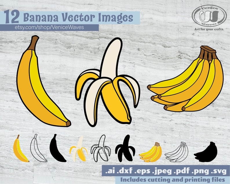 Peeled banana cut file. Bananas clipart babana