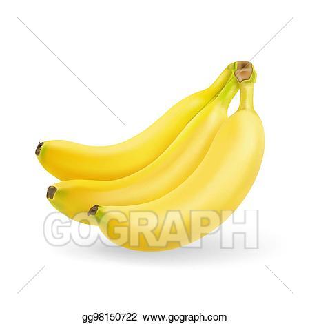 Bananas clipart babana. Vector art banana fruit