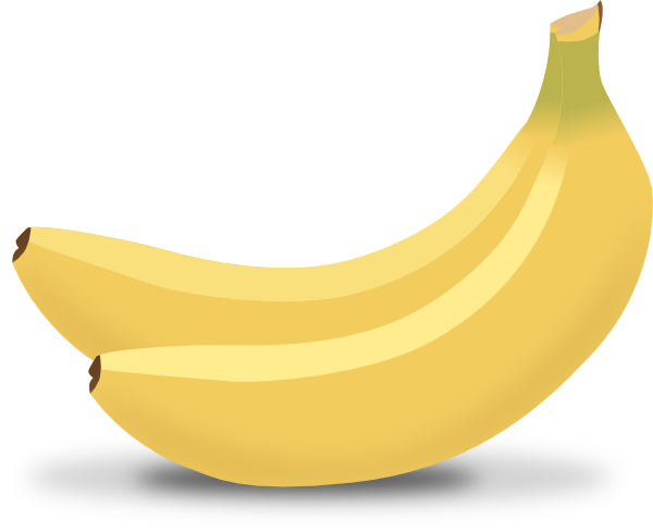 Two . Bananas clipart babana
