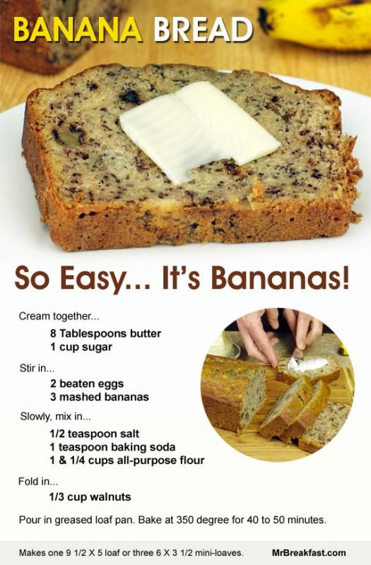 Bananas clipart banana cake. Bread so easy it
