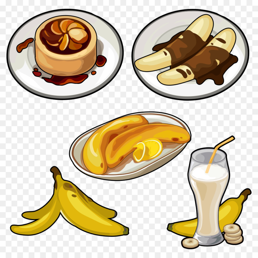 Juice pisang goreng pudding. Bananas clipart banana cake