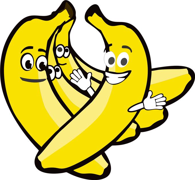 Clipart eye banana. With face