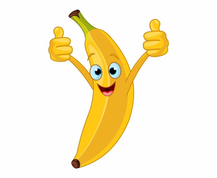 Bananas clipart bananan. Transparent happy banana cartoon