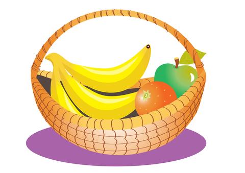 Bananas clipart basket. Shared fruit nzmaths a