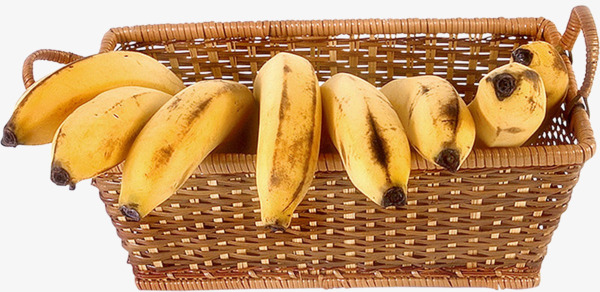A of banana fruit. Bananas clipart basket