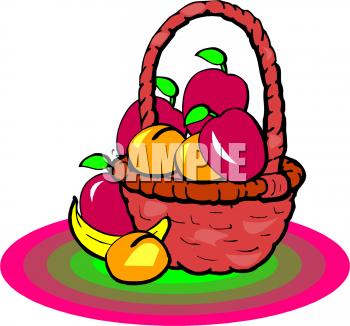 Bananas clipart basket. A banana beside fruit