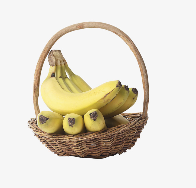 A of fruit banana. Bananas clipart basket