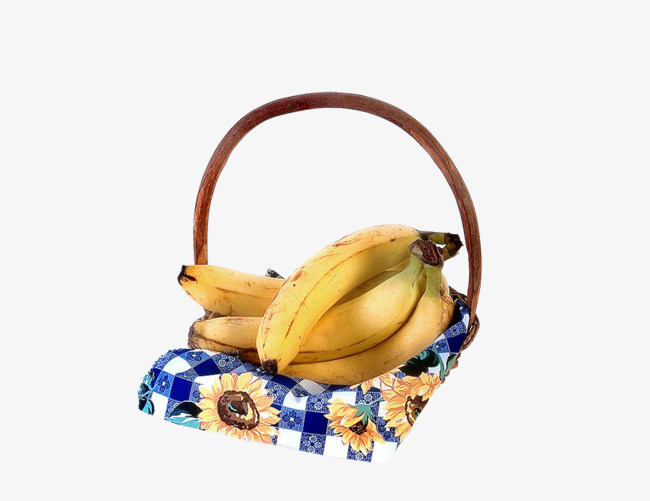 Banana fruit png image. Bananas clipart basket