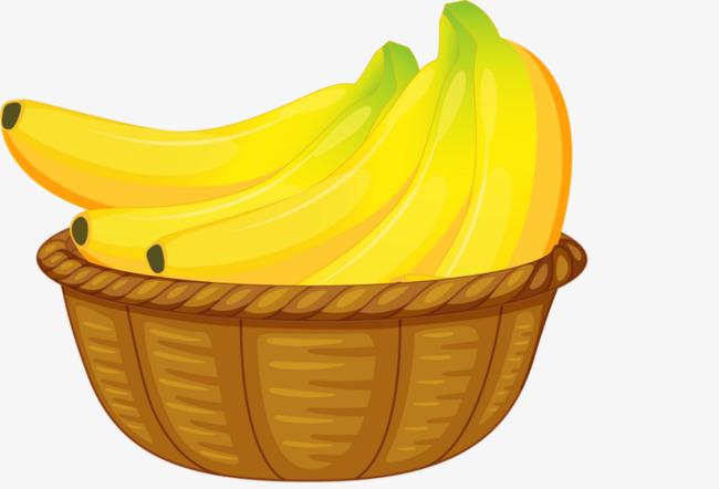 Banana brown png image. Bananas clipart basket