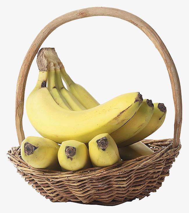 Bananas clipart basket. Baskets in banana carrying