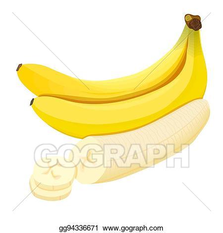 Bananas clipart bnana. Vector banana ripe fresh
