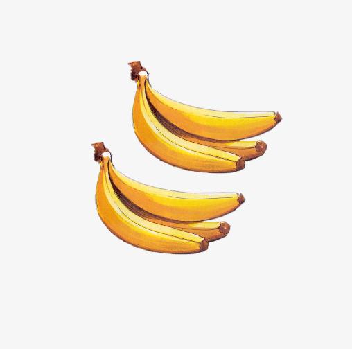 Bananas clipart bunches. Two of yellow banana