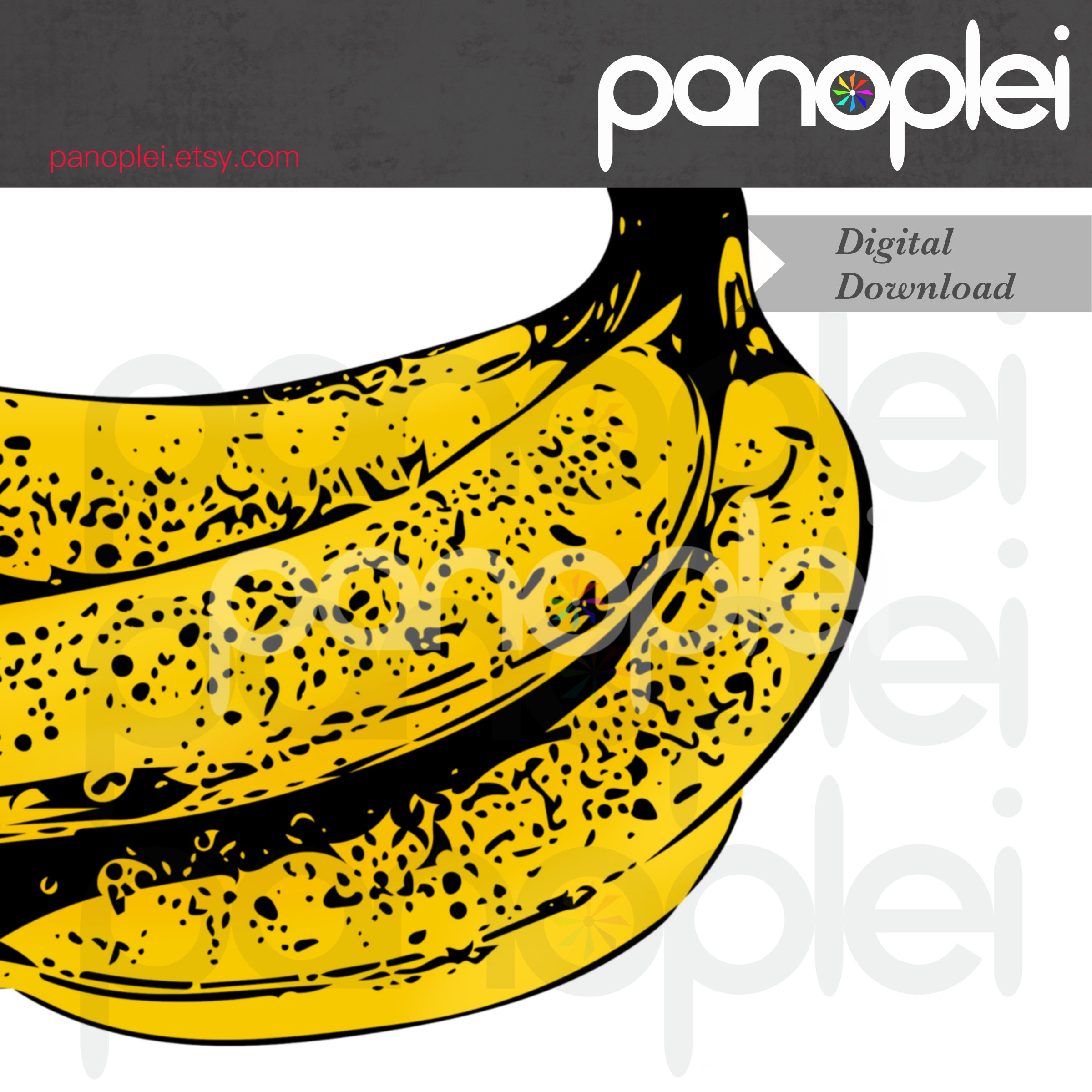 Bananas clipart double. Banana pop art fruit