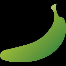 Web green banana free. Bananas clipart icon