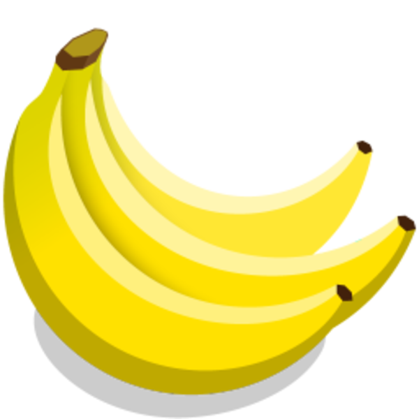Free images at clker. Bananas clipart icon