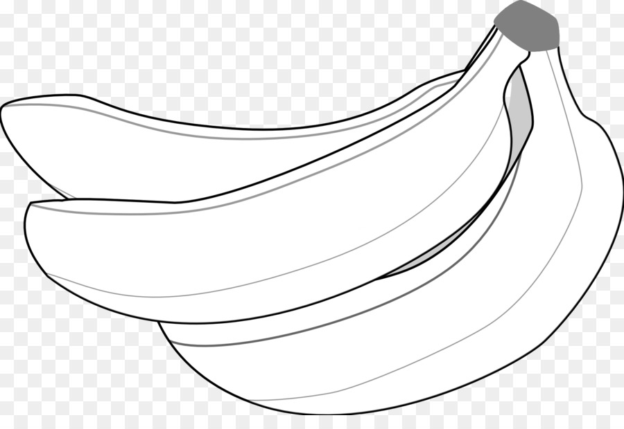 Bananas clipart line art. Banana graphic design monochrome