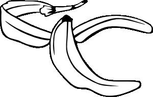 Banana peel png svg. Bananas clipart line art