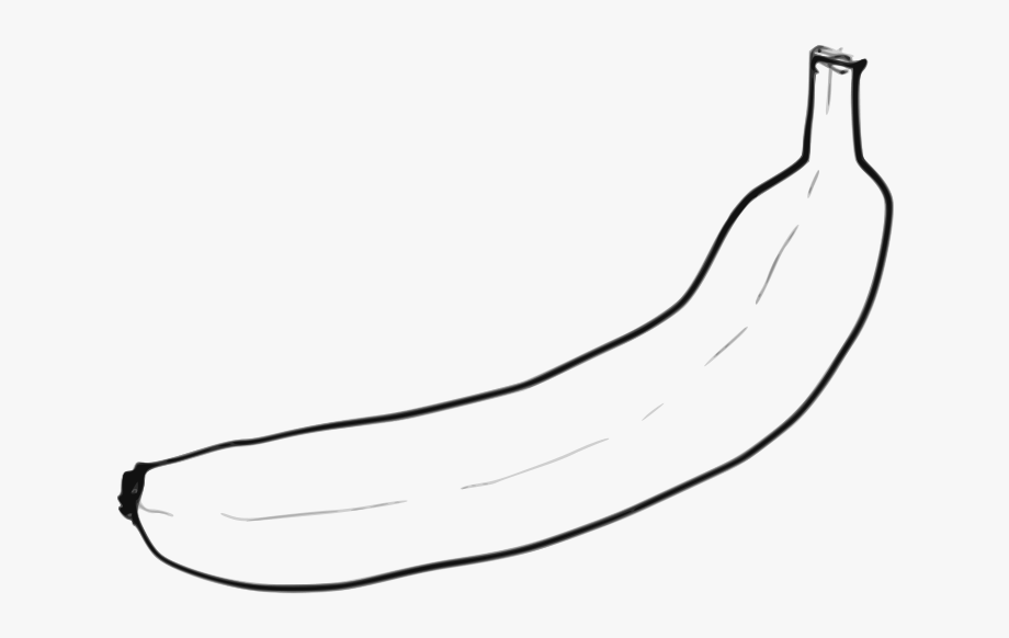 Free single . Banana clipart line art