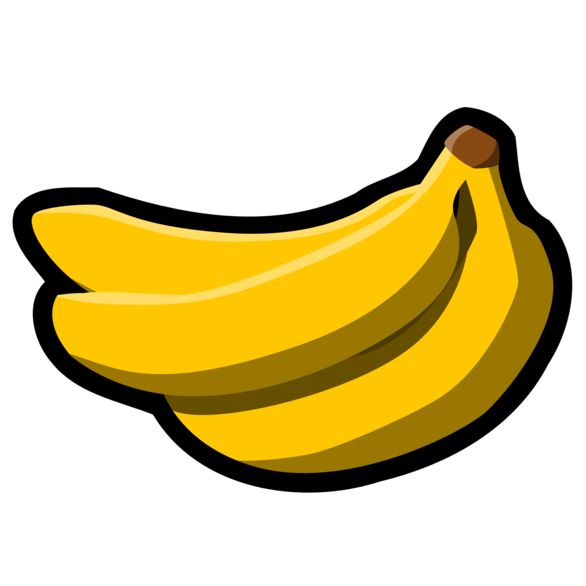 Banana four. Clipart transparent free for