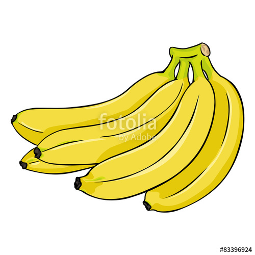 Banana clipart bunch banana. Vector cartoon of bananas
