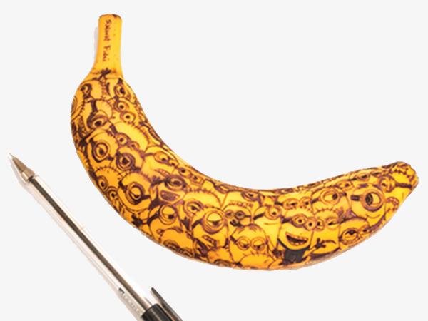 Pen and yellow people. Bananas clipart small banana
