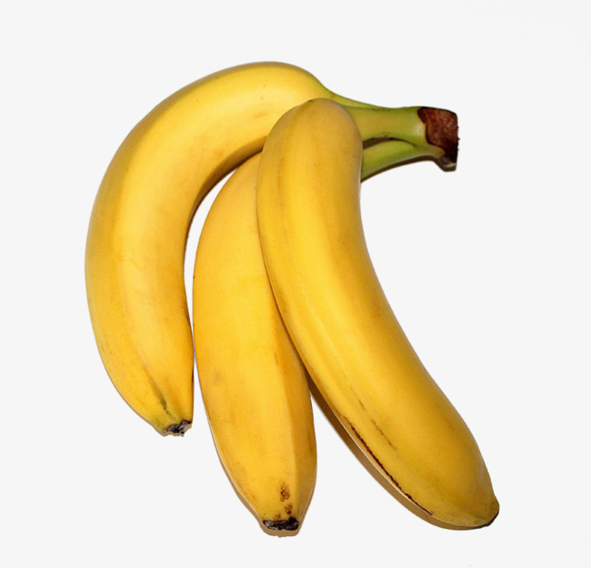 Ripe bananas cooked fruit. Banana clipart three