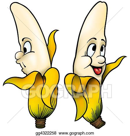 Stock illustration drawing gg. Bananas clipart two