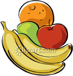 Bananas clipart two. Apples and an orange