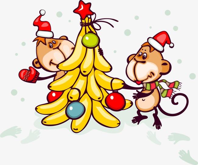 Monkeys banana monkey creative. Bananas clipart two